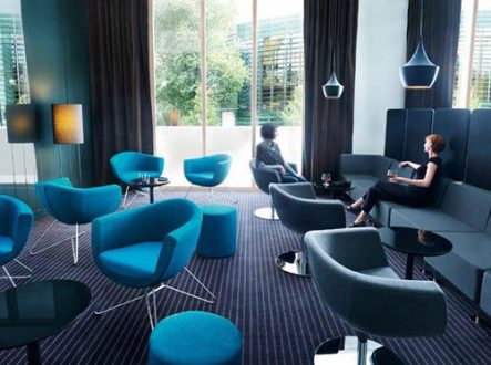 turquoise seats