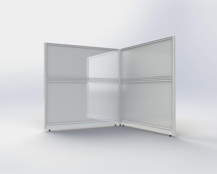 Corona Virus Floor standing acrylic protective screens