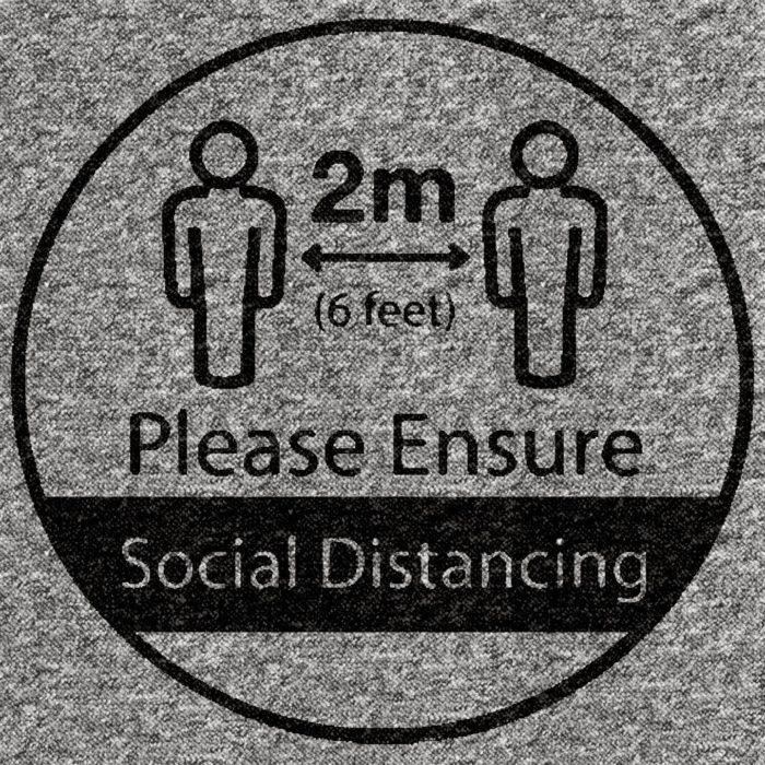Corona Virus Social Distancing Marker